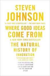 [*Where Good Ideas Come From*](https://amzn.to/2Xg3pNi), by Steven Johnson. Also see his book, [*Ghost Map*](https://amzn.to/2DdExOu), a retelling of the story of John Snow and the 1854 outbreak of cholera in London.